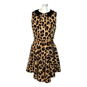 Darling Leopard Skater Dress Small